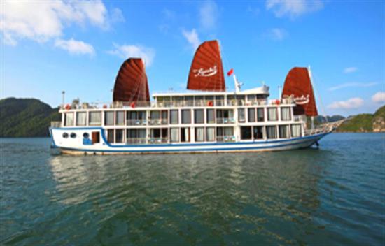 Crucero por Halong en La Pinta Cruise en 2 días 1 noche